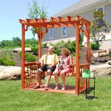 pergola swing backyard cedar pergola swing set swingsets and playsets nashville tn