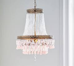 Crystal Beads For Chandelier Clear Pink Glass Droplets Chandelier