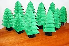 paper folded christmas tree christmas lights decoration