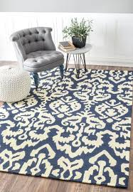 Navy And White Outdoor Rug Sundeck Bi24 Tribal Indoor Outdoor Ikat Navy Blue Rug