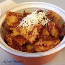 cuisine au fromage raviolis au fromage sauce tomate basilic recette cookeo
