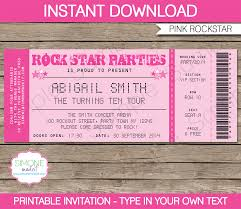 10 best images of free printable ticket invitations templates