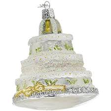 Lenox Christmas Wedding Ornaments by Amazon Com Old World Christmas Wedding Cake Glass Blown Ornament