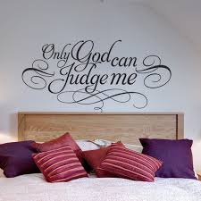 Wall Stickers Home Decor Wall Decal Quotes Only God Can Judge Me 2pac Famous Quote