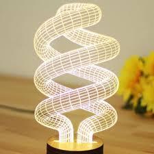 3d Lamps Amazon Amazon Com Aviling Spiral Shape 3d Illusion Bulb Lamp Led Night