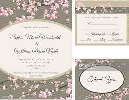 Cherry Blossom Wedding Invitations Cherry Blossom Wedding Invitation Vector Art Getty Images