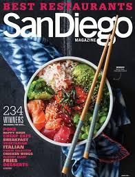 magazine guide cuisine print advertising san diego magazine mediasan diego magazine media