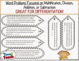turkey math word problem craftivity free great for 2 4 grade