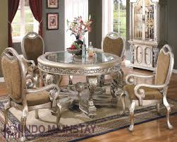 Dining Room Chair Styles Silver Painted Dining Room Table Collective Dwnm Design Decor