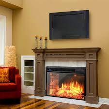 brick electric fireplace insert traditional electric fireplace