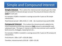 simple and compound interest by tpurkiss teaching resources tes
