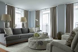 Plain Blue Gray Color Scheme For Living Room Walls Transitional - Color scheme for living room walls
