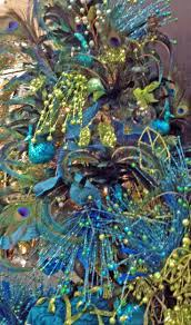 Blue Christmas Decorations Pinterest by 108 Best Peacock Christmas Images On Pinterest Peacock Colors
