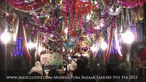 longest decorated bazaar of lahore bhaghbaanpura bazaar on eid