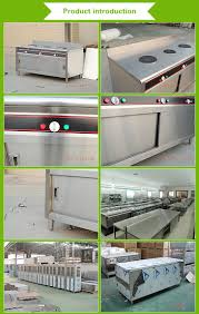 stainless steel commercial kitchen cabinet with drawers and