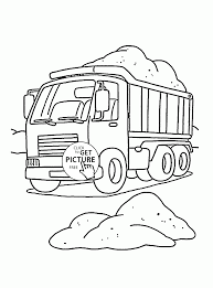 construction dump truck coloring page for kids transportation