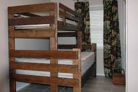 How To Build Bunk Beds Wrangle Hill Bunk Bed Simple Triple Bunk - Plans to build bunk beds with stairs