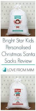 bright personalised santa sacks review giveaway