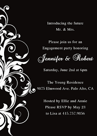 Engagement Party Invitation Wording Black And White Affordable Engagement Party Invitation Ewei002 As