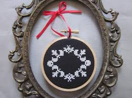 45 best cross stitch ornament frames images on