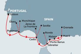 Show Gibraltar On World Map by Cruising Spain And Portugal Lisbon To Malaga Spain Tours