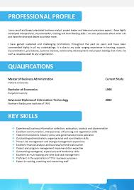 Job Resume Personal Qualities by Cv Personal Statement Examples For Leavers