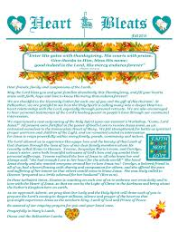 with a heart of thanksgiving newsletter