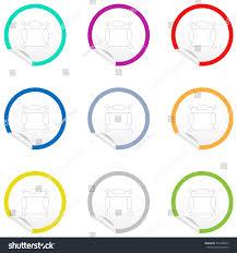 flat chair icon on sticker floor stock vector 351980543 shutterstock