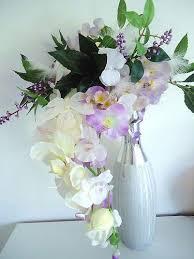 fleur artificielle mariage bouquet mariee orchidee plume papillon fleur artificielle