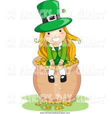 woman clipart leprechaun pencil and in color woman clipart