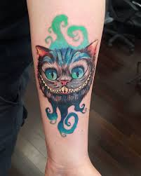 26 cheshire cat tattoos designs