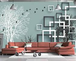 cloth wall murals promotion shop for promotional cloth wall murals beibehang 3d wallpaper modern 3d stereo trees flying birds living room bedroom tv background wall murals wallpaper for walls 3 d
