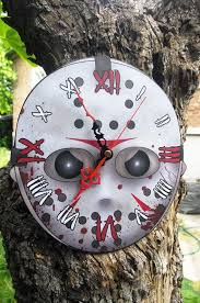 jason voorhees coffee table jason voorhees hockey mask wall clock horror horror icons and movie