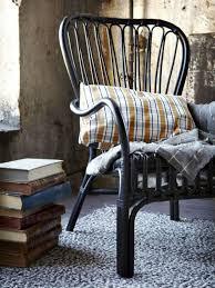 The Chair Factory Storsele Armchair Black Rattan Rattan Armchair Seat Cushions