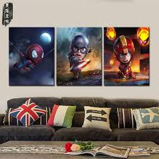 Wall Art For Kids Room by Aliexpress Com Buy Wall Canvas Art Sets Cartoon Superhero Canvas