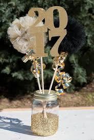 graduation party decoration ideas gold glitter centerpieces and