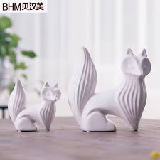 aliexpress com buy ceramic fox figurines home decor crafts room