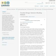 circular design intensive reading method oer commons