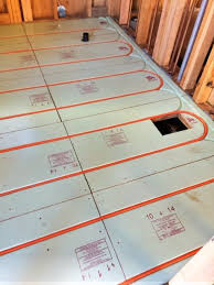 tiny house update radiant floor heating install tiny house