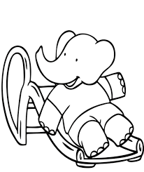 babar skating free cartoon coloring pages cartoon coloring pages