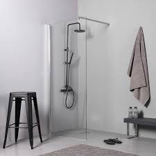 parete fissa doccia parete doccia walk in cm 110 cristallo trasparente altezza 190 cm