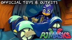 official pj masks toys cars hq pajamas