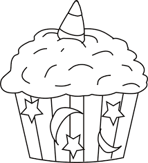 cupcake coloring pages moon star decoration coloringstar