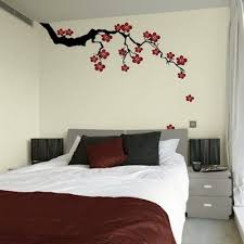 Cherry Blossom Wall Art Decal Top  Creative Bedroom Wall Art - Creative bedroom wall designs
