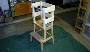 building a learning tower with an ikea bekvam stool