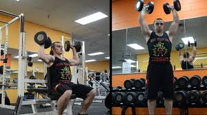 why i do seated dumbbell press instead of military press youtube