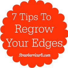 pics of women with no edges 7 tips to regrow your edges strawberri curls
