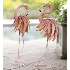 wind weather feather flamingo metal yard statue reviews wayfair
