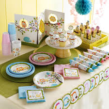 baby shower tableware neutral theme tableware