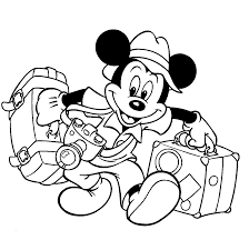 mickey mouse pictures black and white coloring pages clip art